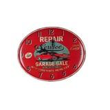 Wanduhr Repair - Rot, MODERN, Metall (49/39/30cm)