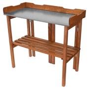 Pflanztisch Holz mit Ablage Klappbar BxHxT: 90x92x35 cm - Braun, KONVENTIONELL, Holz/Metall (90/92/35cm)