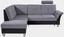 Sedací Souprava Portland - světle šedá/tmavě šedá, Konvenční, kov/dřevo (196/245cm)
