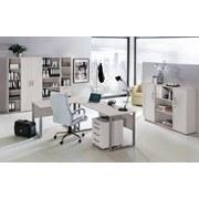 Schreibtisch B 90cm H 73,2cm Serie 1400, Lichtgrau - Silberfarben/Hellgrau, Basics, Holzwerkstoff/Metall (90/73,2/65cm) - MID.YOU