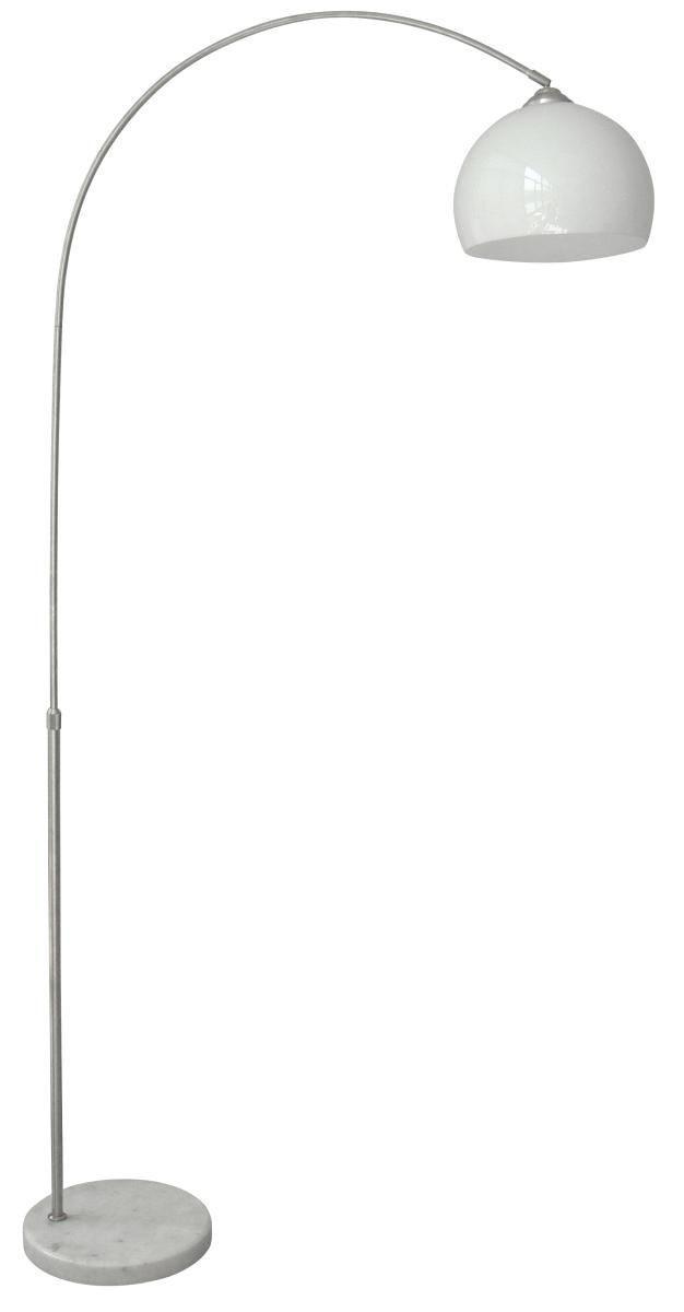 Állólámpa Curve - fehér, konvencionális, műanyag/kő (100/200cm)