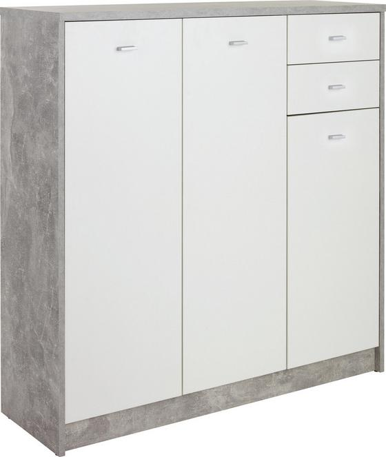 Kommode 4-You New YUK09 - Schwarz/Weiß, MODERN, Holzwerkstoff (109,1/111,4/34,6cm)