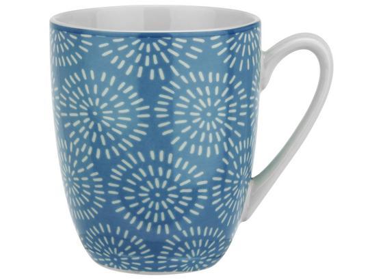 Kaffeebecher Nina Aus Porzellan Ca. 340ml - modrá, keramika (8,5/10cm) - Mömax modern living