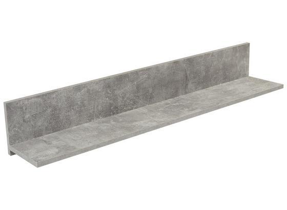 Nástenná Polica Malta - sivá, Moderný, kompozitné drevo (128/18/20cm)