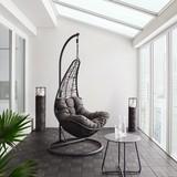 Závěsné Křeslo Rosi - tmavě šedá, Moderní, kov/textilie (95/196/96cm) - Modern Living