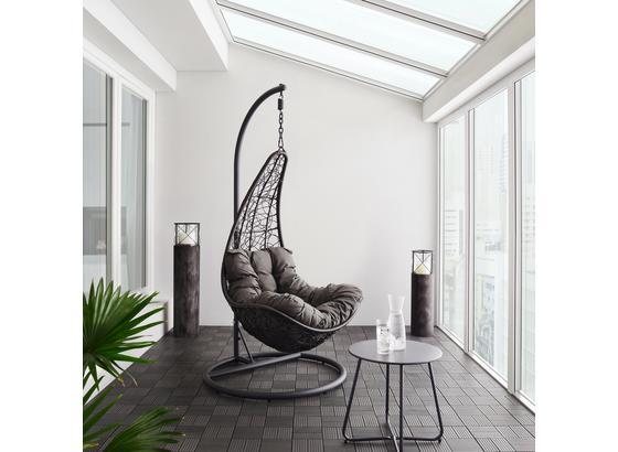 Závesné Kreslo Rosi - tmavosivá, Moderný, kov/textil (95/196/96cm) - Modern Living