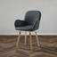 Jedálenská Stolička Anne - farby buku/tmavosivá, Moderný, drevo/textil (54/80/56cm) - Modern Living