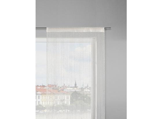 Provázková Záclona Olaf - bílá/růžová, Konvenční, textil (90/245cm) - Mömax modern living