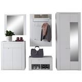 Garderobenkombination Bree 6 B:255cm Weiß Hochglanz - Weiß, MODERN, Karton/Holzwerkstoff (255/203/38cm)