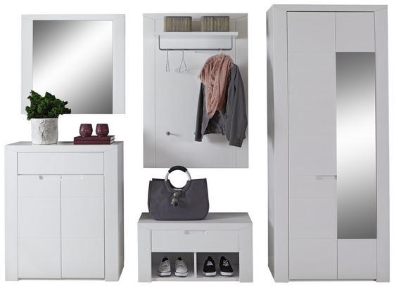 Vorzimmerkombination Bree 6 - Weiß, MODERN, Karton/Holzwerkstoff (255/203/38cm)