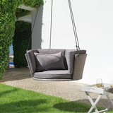 Závěsné Křeslo Coby - šedá, Moderní, kov/textil (92/38cm) - MODERN LIVING