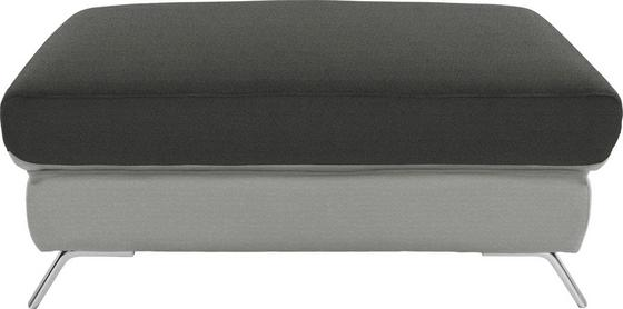 Hocker Upgrade - Chromfarben/Anthrazit, MODERN, Textil (98/46/67cm)
