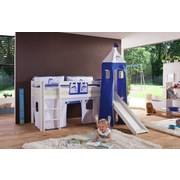 Kinderkissen Blau/Weiß - Blau/Weiß, Design, Textil (90/20/30cm)