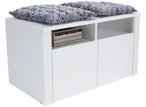 Šatní Lavice Simple - bílá, Moderní, kompozitní dřevo (90/49/38cm)