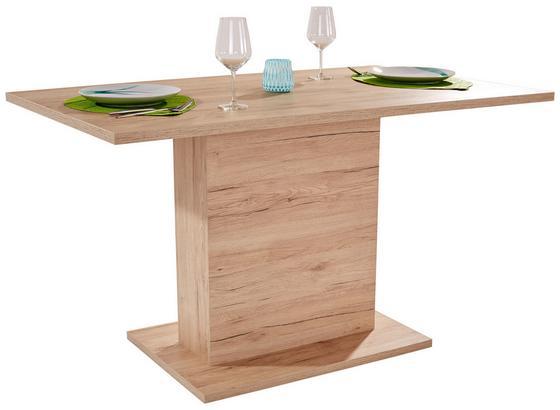 Jedálenský Stôl Oskar 138 - farby dubu, Moderný, kompozitné drevo (138/76/80cm)