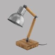 Tischleuchte Stringston - Silberfarben/Schwarz, MODERN, Holz/Metall (14/14/42cm)