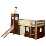 Spielbett Toby R 90x200 cm Braun/Beige - Beige/Braun, Natur, Holz (90/200cm) - MID.YOU