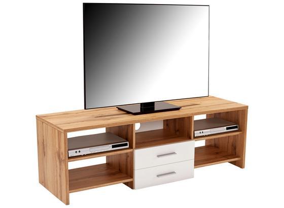 Stolek Na Elektroniku Tico - bílá/barvy dubu, Moderní, dřevo (150/45/40cm)