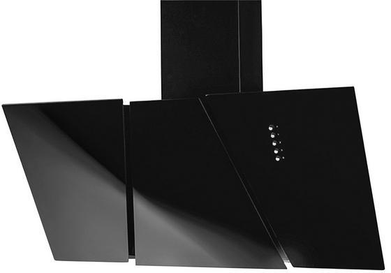 Dunstabzugshaube Massa - Schwarz, Glas/Metall (60cm)