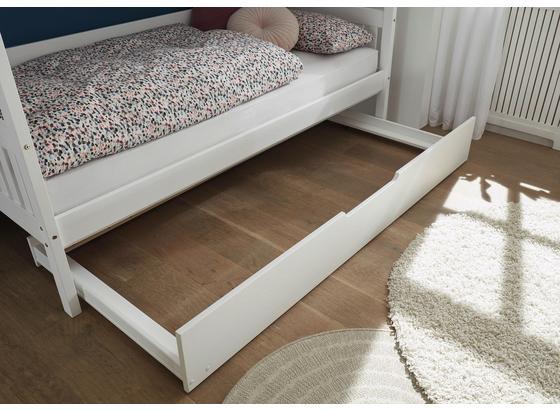 Bettschublade Karlson B: 198 cm Weiß - Weiß, MODERN, Holz/Kunststoff (198/26/94cm) - Livetastic