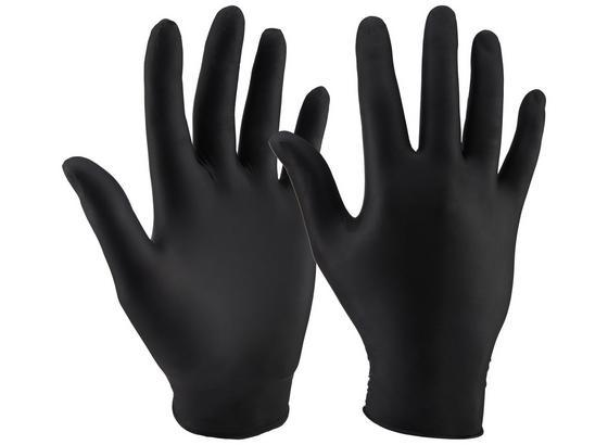 Jednorázové Rukavice Patrice - čierna, plast (20/11/6,5cm)