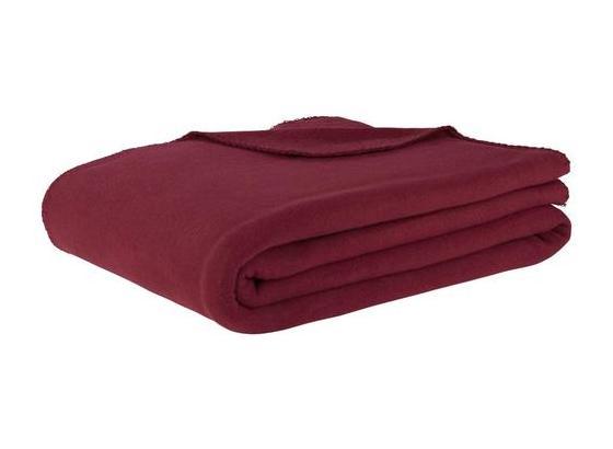 Flaušová Deka Trendix -top- - bordová, textil (130/180cm) - Mömax modern living