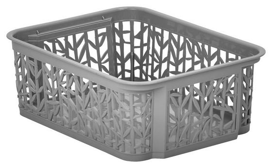 Úložný Košík Bamboo - sivá, umelá hmota (23,5/17,7/8,5cm) - Mömax modern living