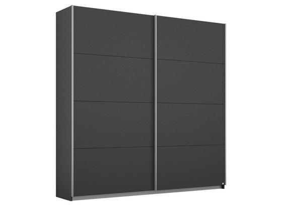 Schwebetürenschrank 181cm Belluno, Grau Metallic Dekor - Dunkelgrau, MODERN, Holzwerkstoff (181/210/62cm)