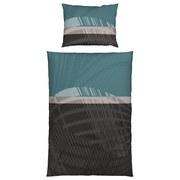 Bettwäsche Safina - Petrol/Grau, KONVENTIONELL, Textil - James Wood