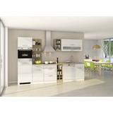 Küchenblock Mailand Gsp B: 310 cm Weiß - Eichefarben/Weiß, Basics, Holzwerkstoff (310cm) - MID.YOU