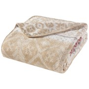 Wohndecke Jaquard 150x200 cm - Rot/Creme, MODERN, Textil (150/200cm)