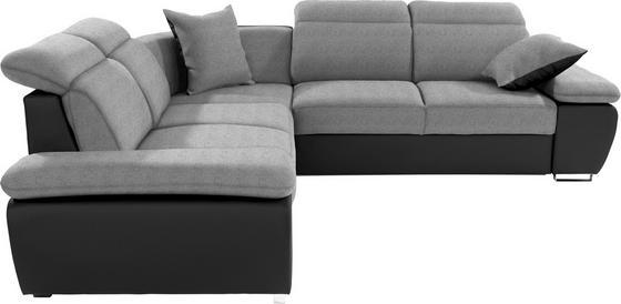 Sedací Souprava Logan - černá/světle šedá, Moderní, kov/dřevo (270/270cm) - OMBRA