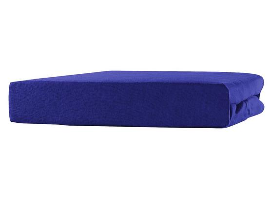 Spannleintuch Tamara - Blau, KONVENTIONELL, Textil (180-200/200cm) - Ombra