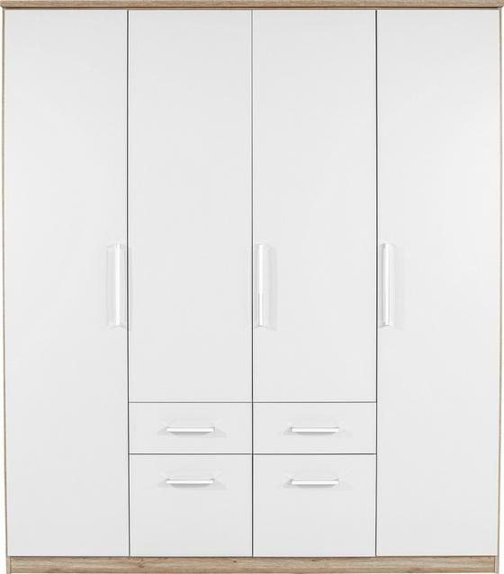 Ruhásszekrény Wien - Tölgyfa/Fehér, konvencionális, Faalapú anyag (181/212/54cm)