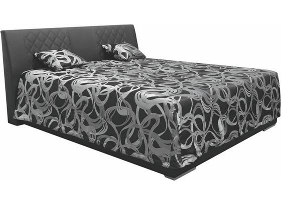 Čalúnená Posteľ Sima 2 180 - čierna, Moderný, textil (180/200cm)