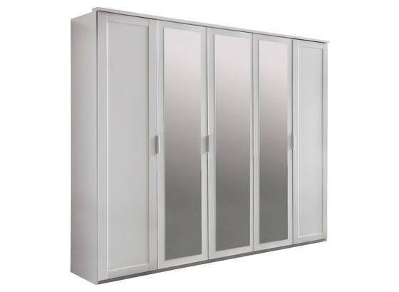 Drehtürenschrank Nadja B: ca. 225 cm - Weiß, KONVENTIONELL, Glas/Holzwerkstoff (225/210/58cm) - Cantus