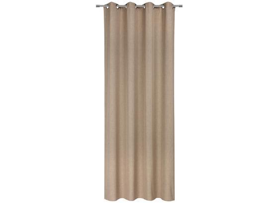 Závěs S Kroužky Ulli -eö- -ext- - pískové barvy, textil (140/245cm) - Mömax modern living