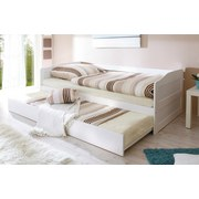 Ausziehbett Melinda 90x200 cm Weiß - Weiß, Natur, Holz (90/200cm) - Livetastic