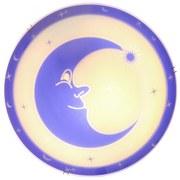 Deckenleuchte Moonstar Ø 30 cm mit Mond-Motiv - Blau/Weiß, Basics, Glas/Metall (30cm)