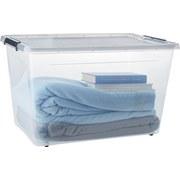 Box mit Deckel Benno I ca. 60 Liter - Transparent/Anthrazit, KONVENTIONELL, Kunststoff (58/39/35cm) - Plast 1
