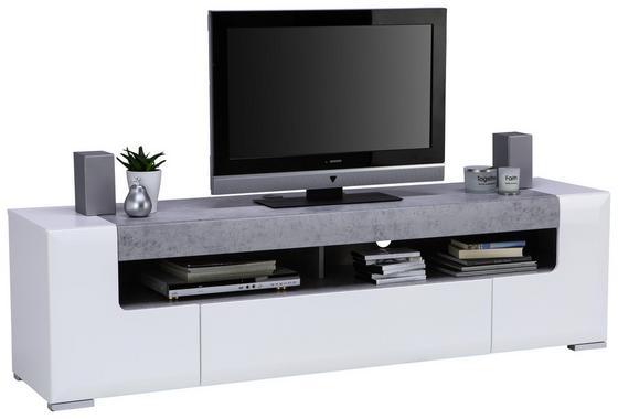 TV-Element Toronto - Silberfarben/Hellgrau, MODERN, Holzwerkstoff (190/53/45,2cm) - Ombra