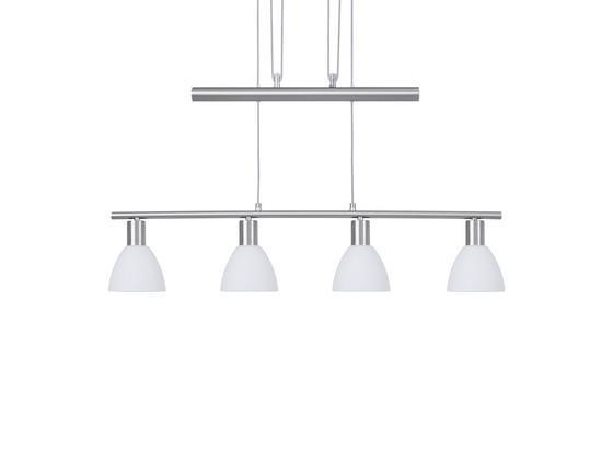 Svítidlo Závěsné Gido 180cm, 40 Watt - opál/barvy niklu, Konvenční, kov/sklo (80/12/180cm) - Mömax modern living