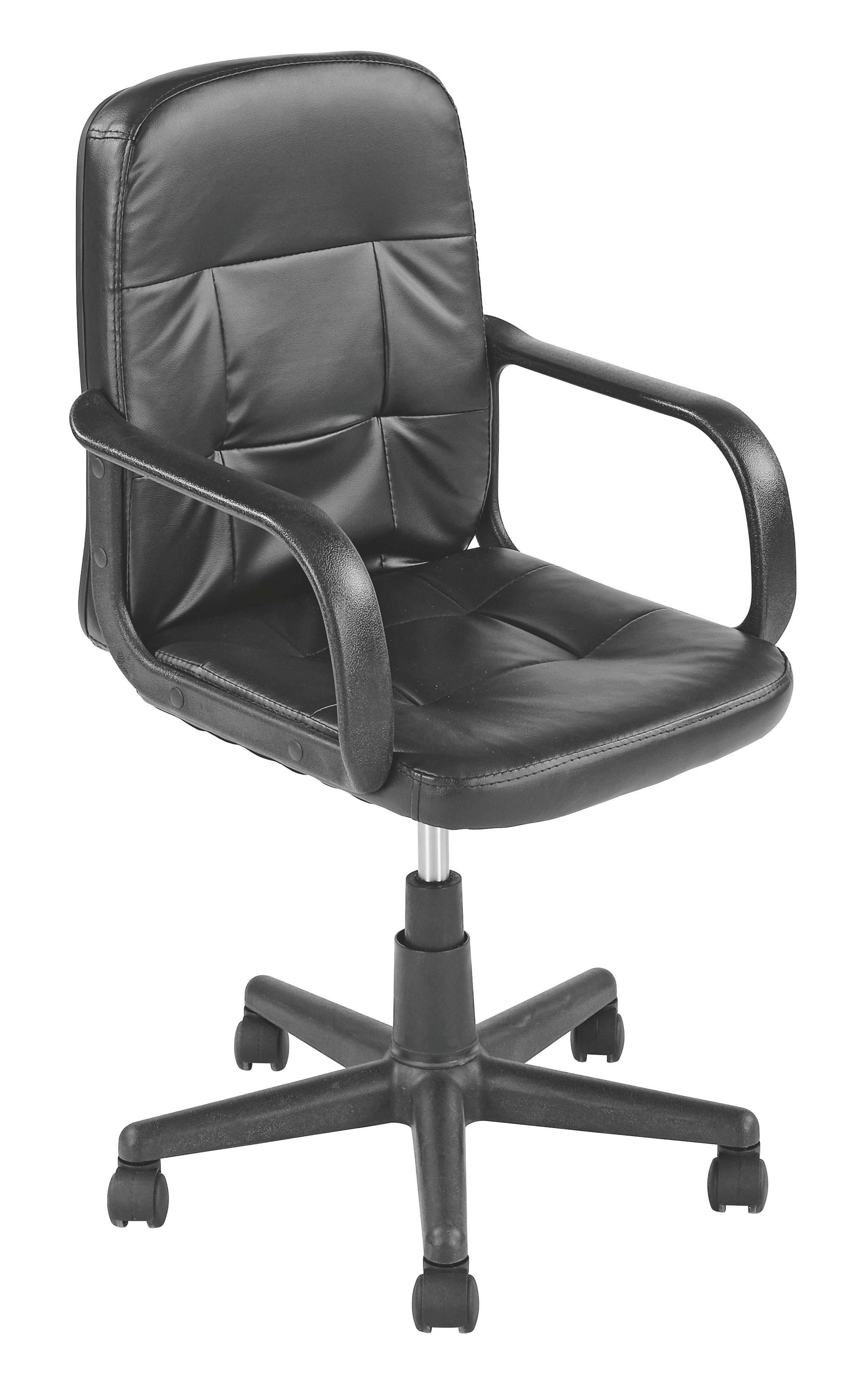 Forgószék Nobi - fekete, modern, műanyag/textil (54/84-96/58cm)