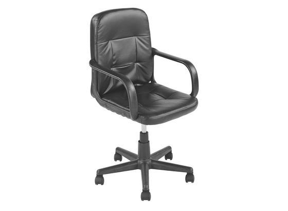 Otočná Židle Nobi - černá, Moderní, kov/textilie (54/84-96/58cm)