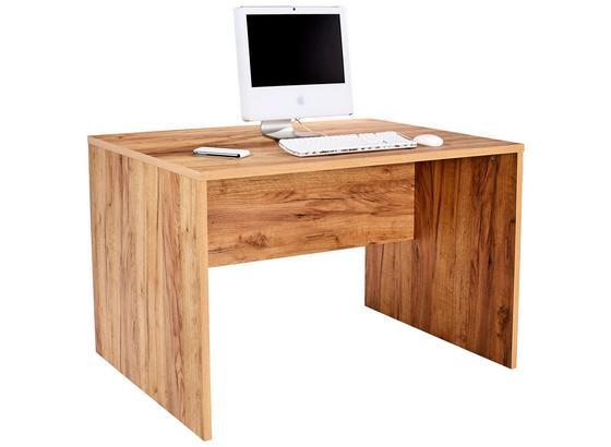 Písací Stôl Profi - farby dubu, Moderný, kompozitné drevo (120/76cm) - Ombra