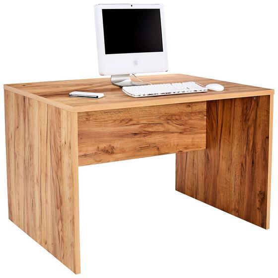 Psací Stůl Profi - barvy dubu, Moderní, dřevěný materiál (120/76/80cm) - Ombra