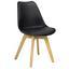 Stuhl-Set Woody 4-Er Set Schwarz - Schwarz/Naturfarben, MODERN, Holz/Kunststoff (48/83/48cm) - Livetastic