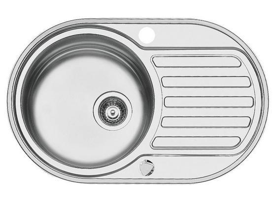 Dřez Basic Round - barvy nerez oceli, Basics, kov (76,5/48cm)