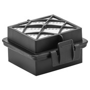 Hepa-filter Abluftfilter für Vc 5 - Schwarz/Weiß, MODERN, Kunststoff (8,5/4,6/7,5cm) - Kärcher