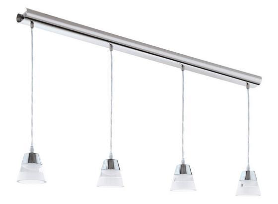LED-hängeleuchte Pancento - Klar/Chromfarben, MODERN, Kunststoff/Metall (101/7/110cm)